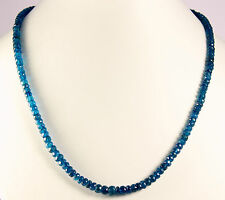 Neon Apatite Chain Precious Stone Necklace JEWELRY Blue 46cm