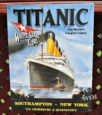 RMS Titanic Olympic Class Ocean Liner Cruise Ship Advertisement Tin Picture Sign