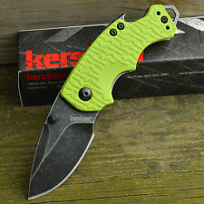 Kershaw Shuffle Lime K-Texture Blackwash 8Cr13MoV Linerlock Knife 8700LIMEBW