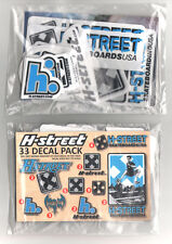 H-Street Skateboard Sticker Pack - 33 Skate Stickers old school reissues new sk
