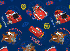FAT QUARTER DISNEY PIXAR MOVIE CARS ALLOVER 100% COTTON FABRIC LIGHTNING MCQUEEN