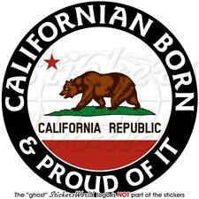 KALIFORNIEN Geboren & Stolz USA Amerikanische Auto Aufkleber Vinyl Sticker 100mm