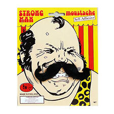 Black Moustache Strong Man Circus Fancy Dress
