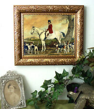SALE Pearce Master of the Hunt Horse Fox Hounds Art Print Antique Styl Framed fh