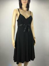 ** PORTMANS ** Size M(10) Black Womens Party Occasion Dress With Bow - (246)