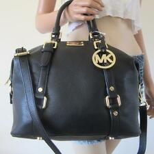 NWT Michael Kors Medium MK Bedford Leather satchel Bowling Shoulder Bag Black