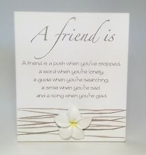 Splosh A Friend is Poem Plaque Sign Friendship Gifts Ideas for Friends Her