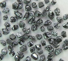 2.00 ct Natural Loose Diamond Rough Natural Shape Black Color 100 pieces