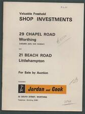 WORTHING & LITTLEHAMPTON. Shop Sales 1969. Beach Road Chapel Road  g101