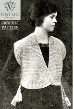 Vintage downton abbey era crochet pattern for a stylish jacket-free UK postage
