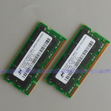 Micron 2GB 2X1GB DDR400 PC3200 sodimm 400Mhz laptop Notebook low density memory