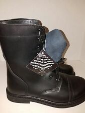 Mens Steel Toe GI Style Black Combat Boots / Size 13