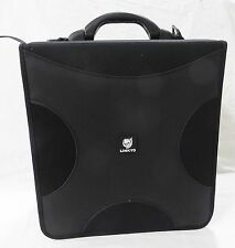 Lonkyo CD DVD holder storage binder 256 sleeves carrying case fabric black