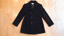 MARVIN RICHARDS LADIES BLACK PEACOAT Jacket WOOL CASHMERE Sz S