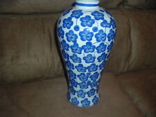 "Blue And White Porceline Flower Vase,12"" by 6"""