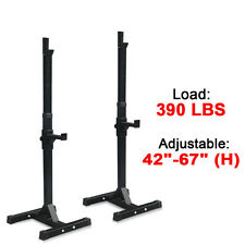 Gym Fitness Adjustable Squat Rack Bench Press Weight Lifting Barbell Stand