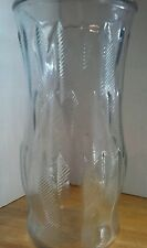 Vintage E.O. Brody Clear Glass Vase with Wheat Stalk Pattern  C973