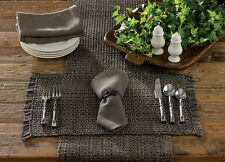 Placemat - Tweed in Charcoal by Park Designs - Kitchen Dining Gray Black Tan