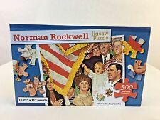 """NIB Sealed Norman Rockwell Jigsaw Puzzle """"Salute the Flag"""" 1971 500 Pieces"""