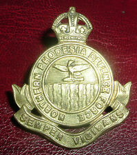 CAP BADGES-ORIGINAL WW2 NORTHERN RHODESIA DEFENCE FORCE 2nd PATTERN 1941-1945