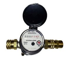 Garden Hose Thread Bronze Water Meter