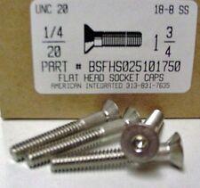1/4-20x1-3/4 Flat Head Hex Socket Cap Screws Stainless Steel (9)
