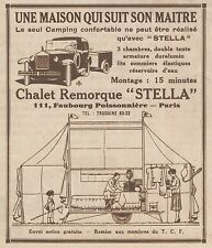 Z8157 Chalet Remorque STELLA - Pubblicità d'epoca - 1930 Old advertising