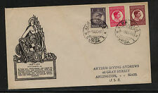 Romania 369,373,375  on cachet  cover  1933            AT0529