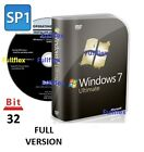 Windows 7 Ultimate 32-bit DVD SP1 Full Version & License COA Product Key