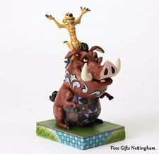 Disney Traditions Lion King Timon & Pumbaa Figurine -Carefree Cohorts -Jim Shore