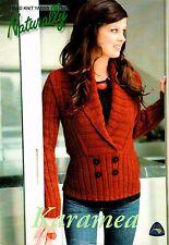 Naturally NZ Yarns Ladies Sweater Pattern Leaflet: Karamea