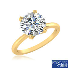 2.00 Ct Solitaire Ring Diamond Ring 14K Hallmark Gold Ring Diamond Rings