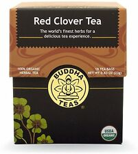 Red Clover Tea, Buddha Teas, 18 tea bag 1 pack