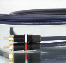 VAN DAMME 1m Audio Twin Interconnect 268-500-000 Neutrik Rean Phono RCA Plugs