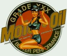 Pair (2) Sexy Motor Oil Girl Pinup XXX Better Performance Stickers OOP Rare