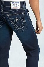 NWT TRUE RELIGION JEANS $293 MENS HAND PICKED STRAIGHT FLAP IN CHOPPER SZ 40