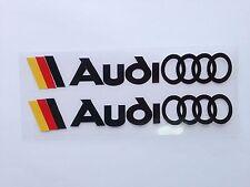 X2 Manija de coche increíble Adhesivo Calcomanía Vinilo de gráficos para Audi (Negro)