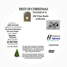 CHRISTMAS OLD TIME RADIO COLLECTION (Vol 1 & 2) - 312 Shows MP3 Format OTR 1 DVD