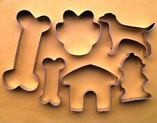 Dog bone house paw fire hydrant baking pastry cookie cutter stainless set 666