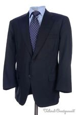BROOKS BROTHERS GOLDEN FLEECE Solid Blue 100% Wool Jacket Pants SUIT Mens - 42 S