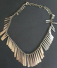 Lucky Brand Silver Necklace Chain Hippie Fringe EUC! Long 18""