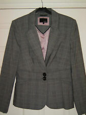 Next Jacket Prince of Wales Check Fully Lined size 10 R BN