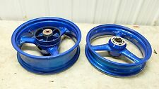 00 ZR750 ZR 750 7 ZR7 Kawasaki powder coated blue rear and front wheels rims rim
