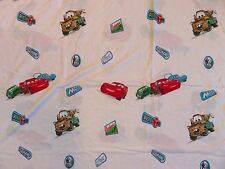 CARS Signs BED SHEET Top/Flat Twin Mechanic On Duty Disney Pixar Cartoon Movie