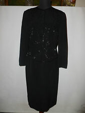 LADIES  WINDSMOOR MOTHER OF THE BRIDE BEADED  SUIT   SIZE UK 10