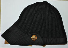 Authentic New Women's RARE Gucci Black Wool Hats,size S