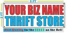 CUSTOM NAME THRIFT STORE Banner Sign NEW Larger Size Best Quality for the $$$