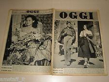 OGGI=1950/41=JEAN SOREL ALIDA VALLI SAN GIMIGNANO=FILM LA SAGA DEI FORSYTE