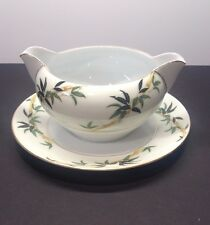 "VTG KENT Japan China  Pattern ""Bali Hai"" Gravy Boat/Attached Underplate  EUC"