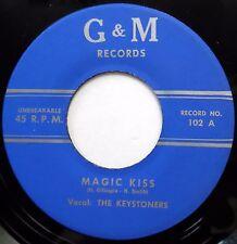 KEYSTONERS 45 Magic Kiss  I'd Write About Blues NEAR MINT Doo Wop REISSUE bb3115